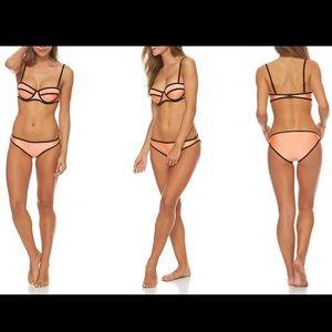 Other - Neoprene Balconette Bikini Set: Orange/Medium